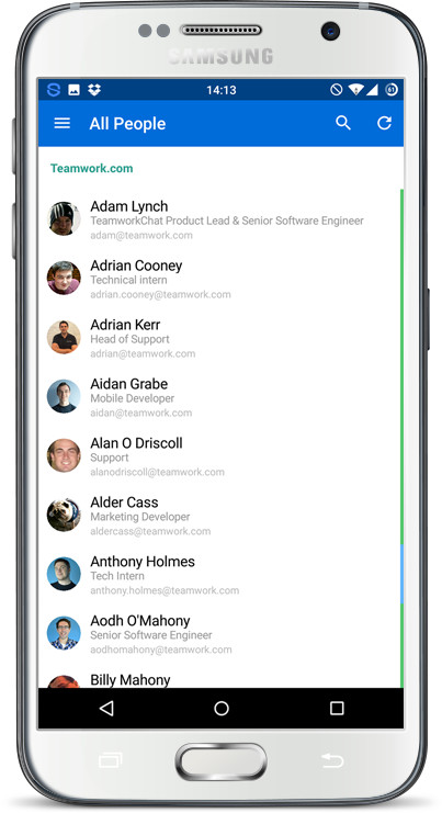 Teamwork Projects android app