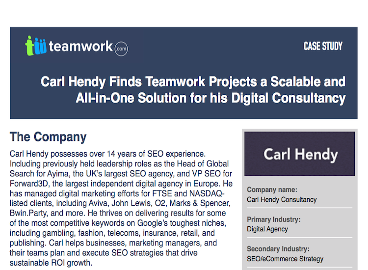 Carl Hendy Consultancy