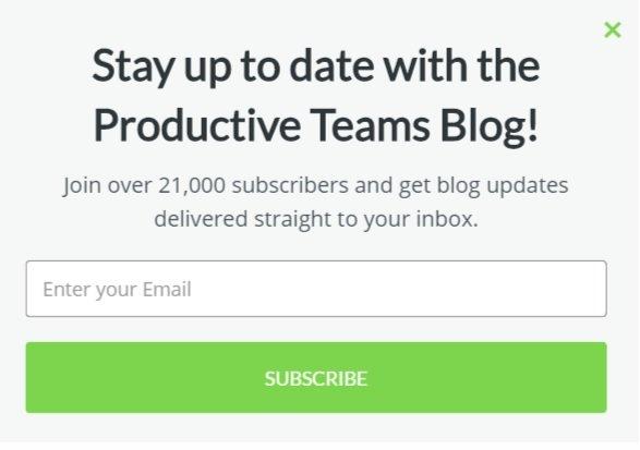 Teamwork.com blog opt-in