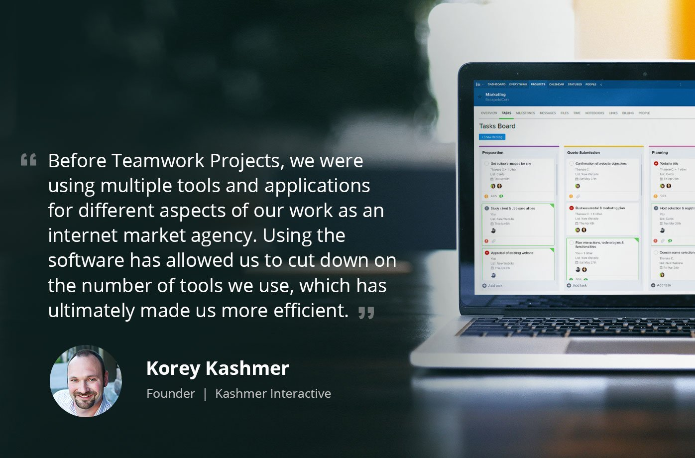 Kashmer Interactive - Teamwork Projects Case Study