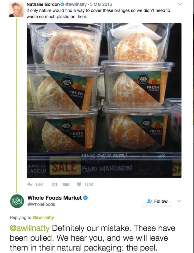 Whole Foods Market Twitter Response