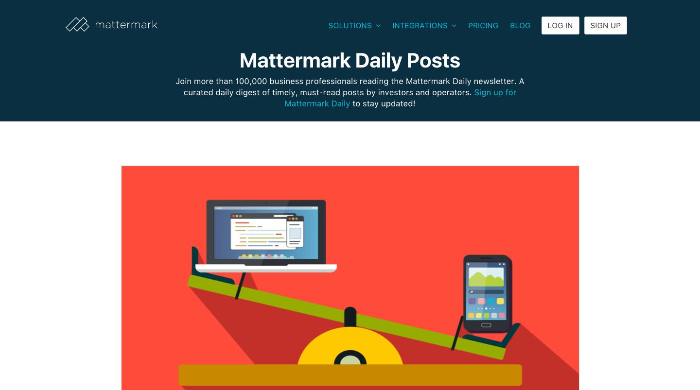 Mattermark Daily