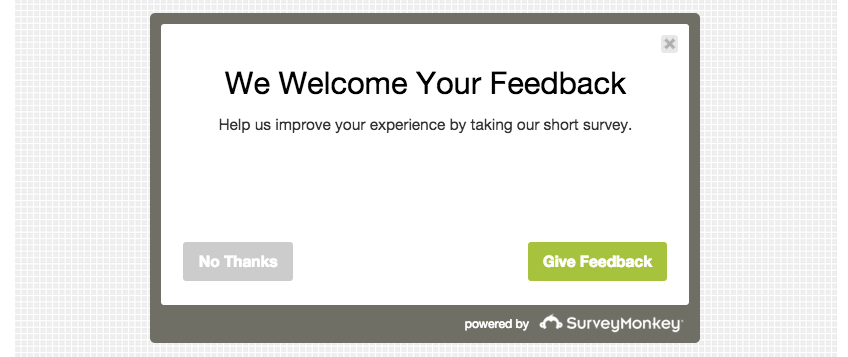 Survey Monkey Feedback Form