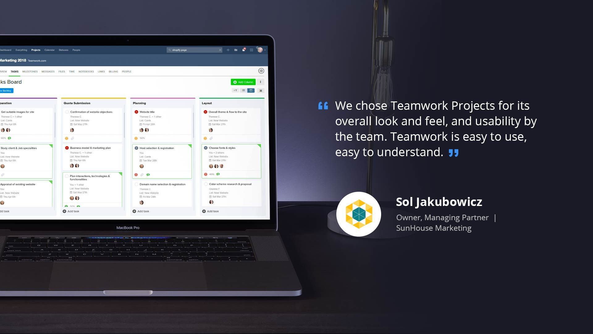 SunHouse and Teamwork Projects | Teamwork.com