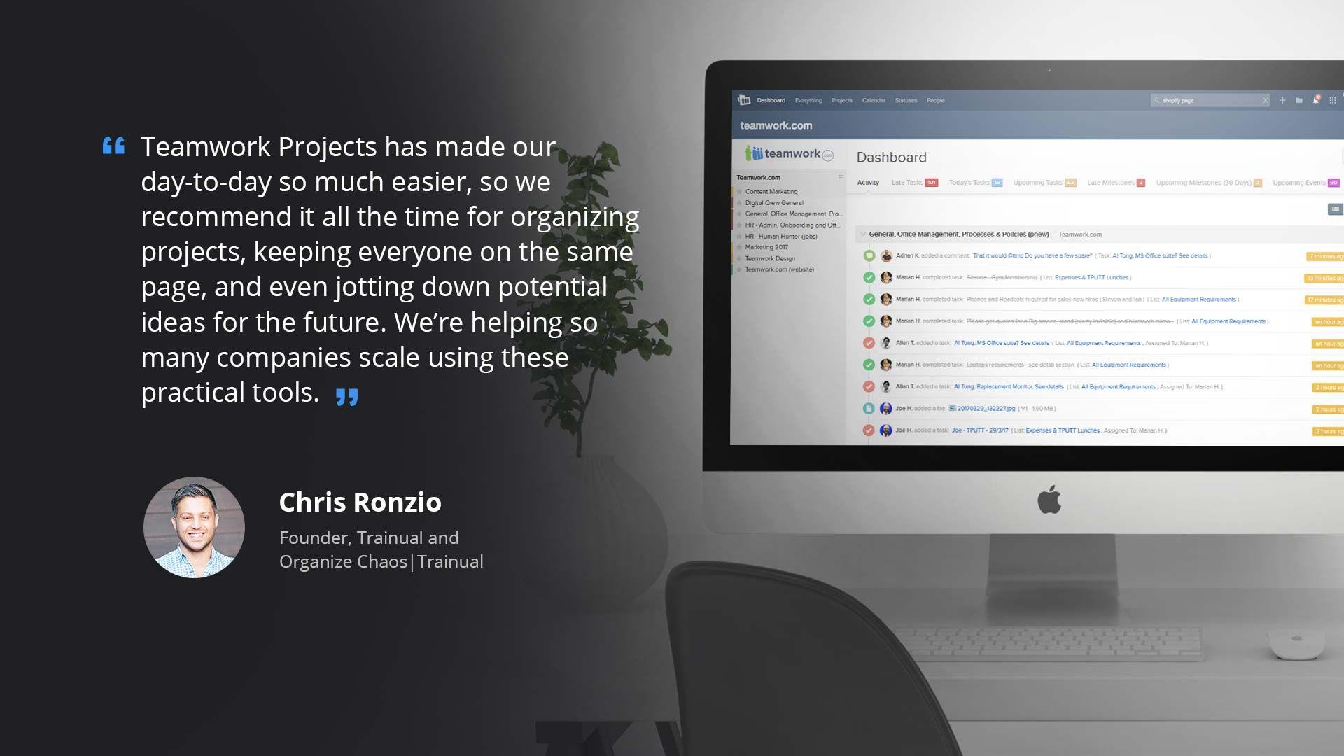 Trainual and Teamwork Projects   Teamwork.com