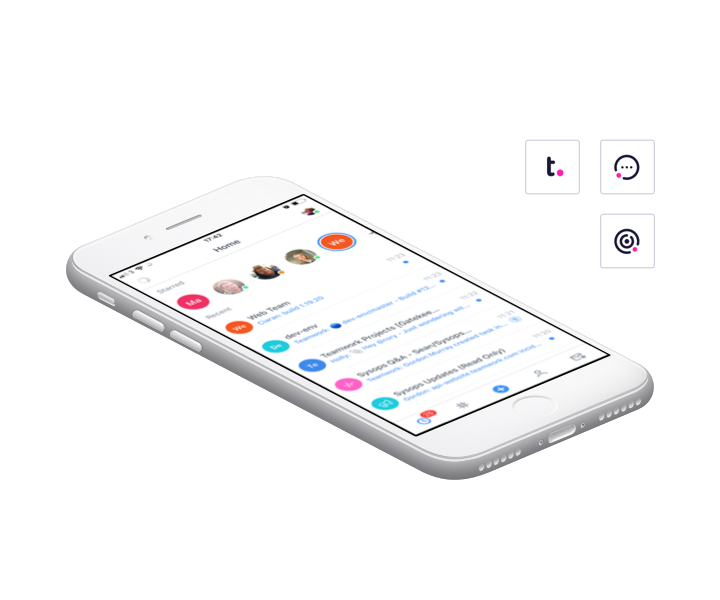 Teamwork mobile apps
